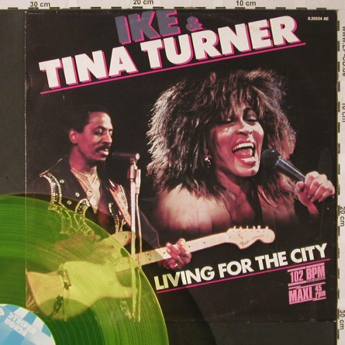 Turner,Ike & Tina: Living For The City+1,Yellow Vinyl, Striped Horse(6.20534 AE), D 102bpm, 1986 - 12inch - E8357 - 4,00 Euro