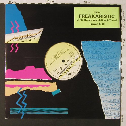 Freakaristic: Life(Tough World-Rough Times)+1, Injection(234.789), NL, LC, 1987 - 12inch - E9785 - 3,00 Euro