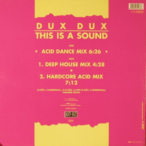 Dux Dux: This Is A Sound*3, EMI(2 03223 6), D, 1988 - 12inch - E9921 - 3,00 Euro