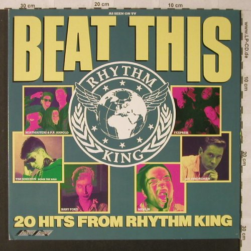 V.A.Beat This: The Hits Of Rhythm King,20 Tr., Foc, Stylus(SMR 973), UK, 1989 - LP - F1913 - 6,00 Euro