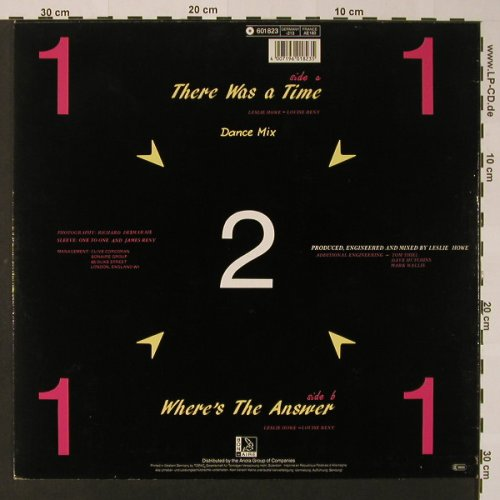 One To One: There was a Time, d.mix +1, Bon Aire/Ariola(601 823), D, 1985 - 12inch - F2635 - 2,50 Euro