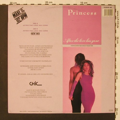 Princess: After The Love Has Gone*2, Chic(6.20510 AE), D, 1985 - 12inch - F3234 - 3,00 Euro