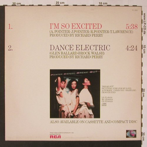 Pointer Sisters: I'm So Excited(Remix) +1, Planet(FC-3858), NL, 1983 - 12inch - F3354 - 4,00 Euro