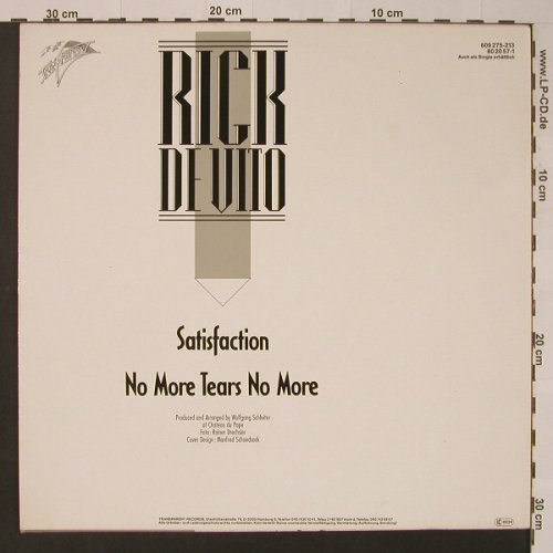 De Vito,Rick: Satisfaction+1, Transparent(609 275-213), D, 1987 - 12inch - F3669 - 4,00 Euro