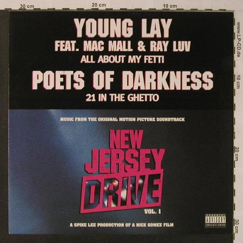 Young Lay feat Mac Mall & Ray Luv: Poets of Darkness, Tommy Boy(0630-12011-0), EU, 1995 - 12inch - F3821 - 5,00 Euro