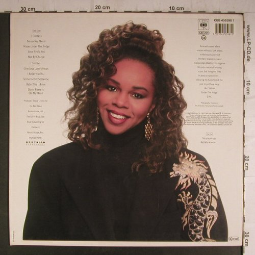 Williams,Deniece: Water Under The Bridge, CBS(450598 1), NL, 1987 - LP - F6944 - 6,00 Euro