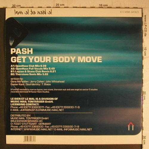 Open Haus Presents Pash: Get Your Body Move, Music Mail(BIEN 018), D, 2000 - 12inch - F7012 - 4,00 Euro