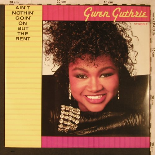 Guthrie,Gwen: Ain't Nothin' goin' On But The Rent, Polydor(855 210-1), D, 1986 - 12inch - F7092 - 3,00 Euro