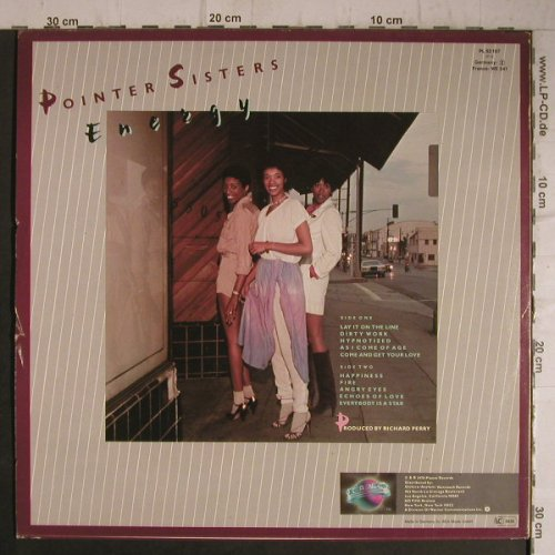 Pointer Sisters: Energy, Planet(PL 52107), D, 1978 - LP - F7432 - 5,50 Euro
