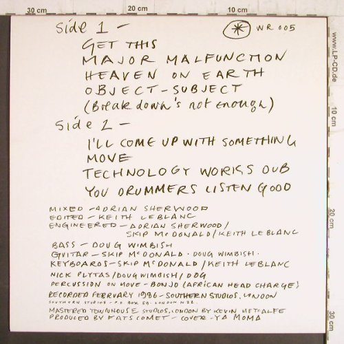 Leblanc,Keith: Major Malfunction, World Rec(WR 005), F, 1986 - LP - F8492 - 10,00 Euro