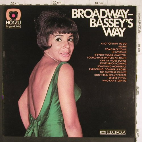 Bassey,Shirley: Broadway-Bassey's Way, HörZu(SHZE 371), D,  - LP - F8497 - 6,00 Euro