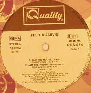 Felix & Jarvis: Jam the House*4, LC, vg+/m-, Quality(QUS 054), D, 1983 - 12inch - F8806 - 3,00 Euro