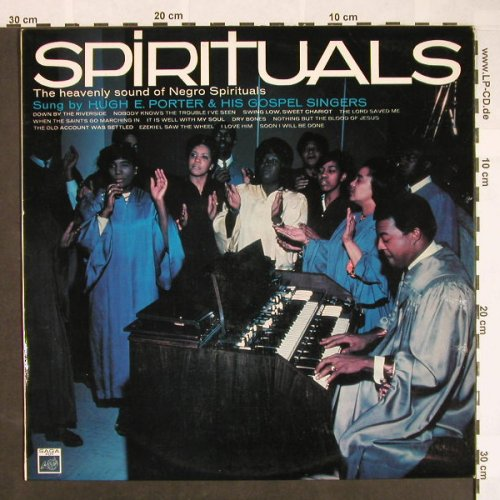 Porter,Huge E. & his Gospel Singers: Spirituals, SAGA(FDY 2089), UK, 1967 - LP - F9636 - 9,00 Euro