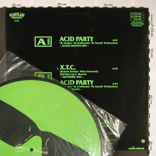 "Mr.Matey: Acid Party*2+1,Pictute Disc, Flim Flam(FFR 1205), ,  - P12"" - H1647 - 9,00 Euro"