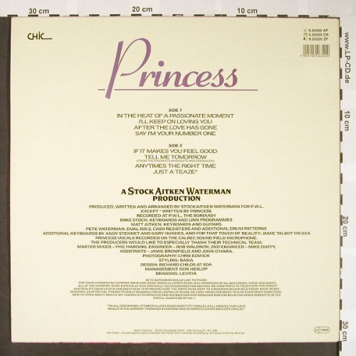 Princess: Same, Chic(6.26320 AP), D, 1986 - LP - H1692 - 5,00 Euro