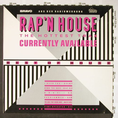 V.A.Rap'n House: The Hottest Trax,Bomb the Bass..., Dino/Bravo(1711), D, 1988 - LP - H1752 - 5,00 Euro