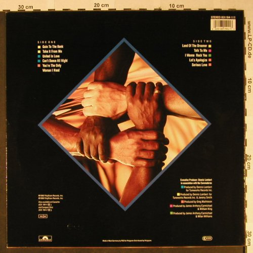 Commodores: United, Polydor(831 194-1), D, 1986 - LP - H2357 - 4,00 Euro