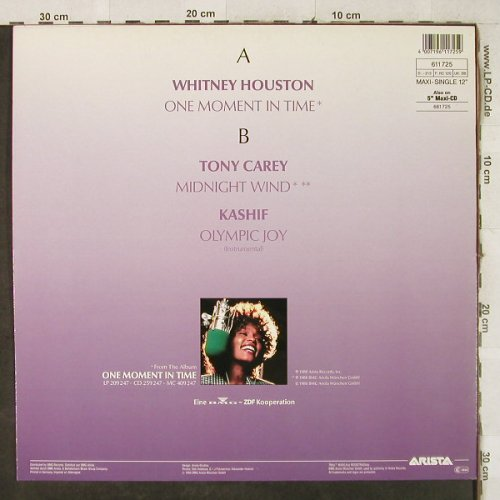 Houston,Whitney/Tony Carey/Kashif: One Moment In Time/Midnight Wind..., Arista(611 725), D, 1988 - 12inch - H3971 - 4,00 Euro