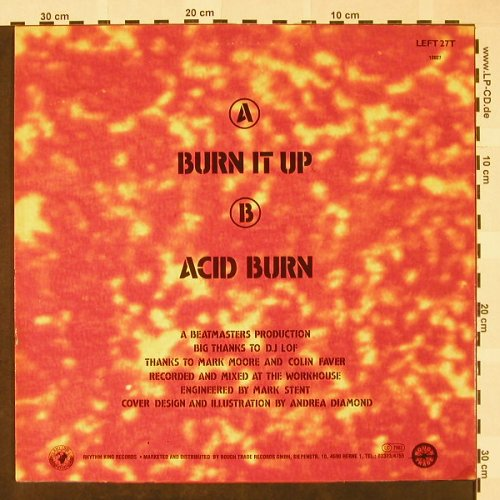 Beatmasters with PP Arnold: Burn it Up / Acid Burn, Rhythm King(LEFT 27T), D,  - 12inch - H4169 - 3,00 Euro