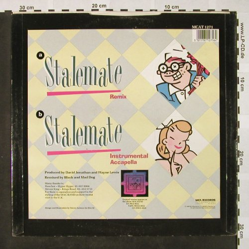 Mac Band: Stalemate*2, remix, MCA(MCAT 1271), UK, 1988 - 12inch - H4184 - 3,00 Euro