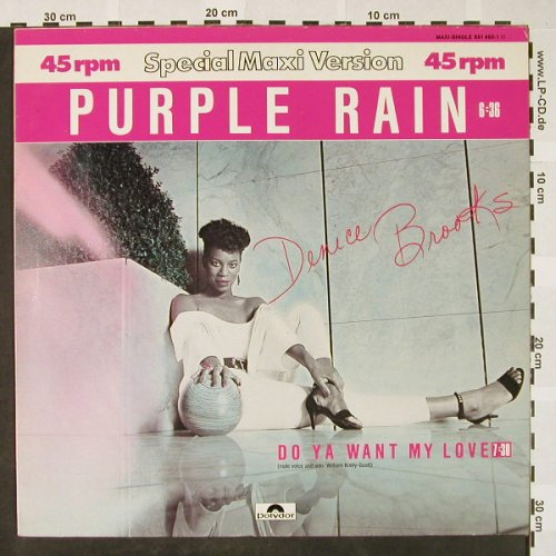 Brooks,Denice: Purple Rain #/ Do Ya Want My Love, Polydor(881 460-1), D, 1984 - 12inch - H4192 - 4,00 Euro