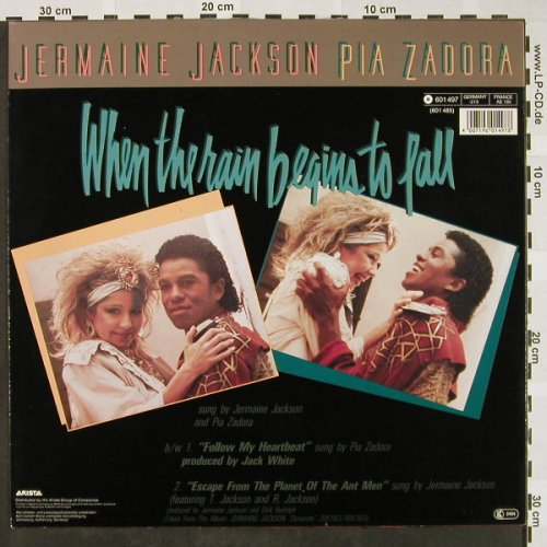 Jackson,Jermaine & Pia Zadora: When The Rain Begins To Fall+2, Arista(601 497-213), D, 1984 - 12inch - H4368 - 3,00 Euro