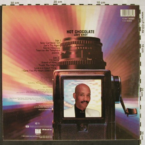 Hot Chocolate: Love Shot, RAK(1653831), EEC, 1983 - LP - H4426 - 6,50 Euro