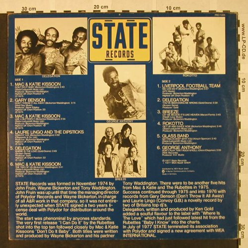 V.A.State Records: Mac&Katie Kissoon...George Anthony, State(PRO 1005), UK,Promo, 1977 - LP - H4701 - 6,00 Euro