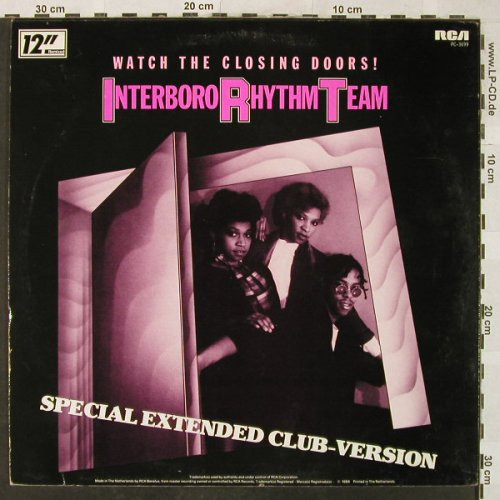 Interboro Rhythm Team: Watch the Closing Doors!*3,sp.ex.cl, RCA(PC-3699), D, 1984 - 12inch - H5200 - 4,00 Euro