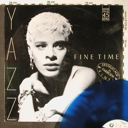 Yazz: Fine Time/Dream, blue vinyl,vg+/vg+, Blow Up(INT 125.757), D, 1989 - 12inch - H5346 - 2,00 Euro