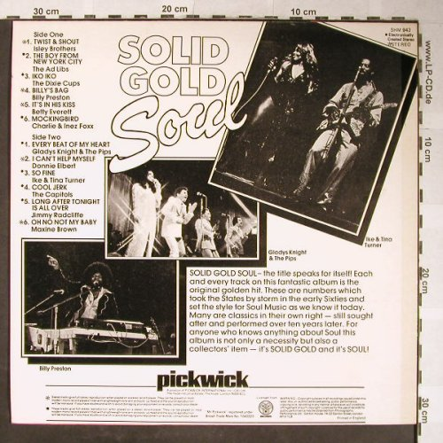 V.A.Solid Gold Soul: Isley Brothers..Maxine Brown,12 Tr., Pickwick(SHM 943), UK,Ri,  - LP - H5395 - 4,00 Euro