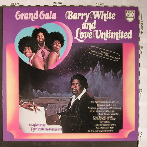 White,Barry & Love Unlimited: Grand Gala, Philips(6370 221), NL, 1973 - LP - H5430 - 7,50 Euro