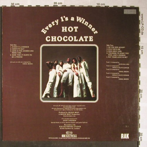 Hot Chocolate: Every 1's a Winner, RAK(074-60 499), D, 1978 - LP - H5513 - 6,00 Euro