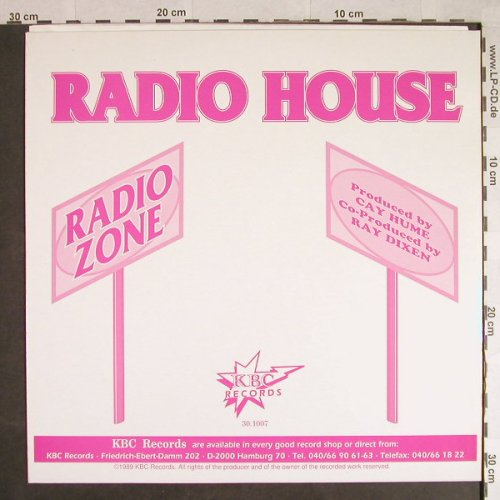Radio Zone: Radio House*2/Radio Acid, vg+/m-, KBC Records(30.1007), D, 1989 - 12inch - H564 - 3,00 Euro