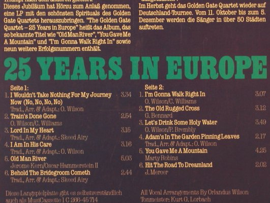 Golden Gate Quartet: 25 Years in Europe, HörZu(066-45 714), D, 1979 - LP - H7323 - 6,00 Euro
