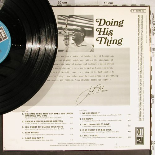 Charles,Ray: Doing HIS Thing, vg+/m-, EMI Columbia(C 062-90 406), D,  - LP - H7324 - 7,50 Euro
