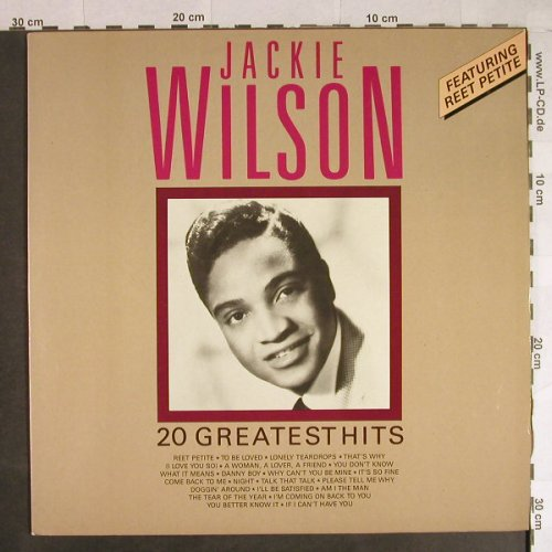 Wilson,Jackie: 20 Greatest Hits, Yesterdays Gold(YDG 15708), P, 1987 - LP - H744 - 5,00 Euro
