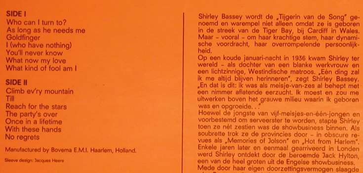 Bassey,Shirley: Portrait of, Columbia(5C 056.04003), NL,  - LP - H7584 - 7,50 Euro
