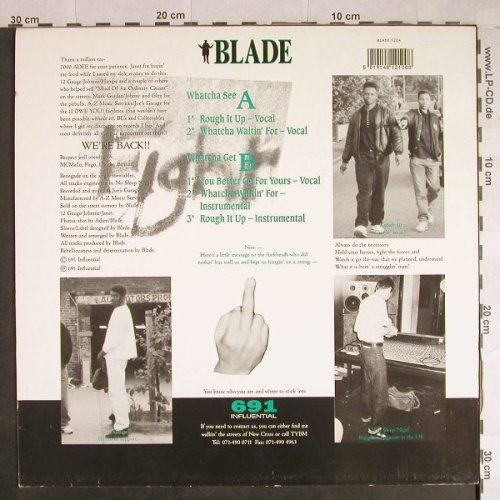 Blade: Rough it up/Whatcha Waitin' for+3, 691 Influential(BLADE 1204), , 1991 - 12inch - H861 - 9,00 Euro