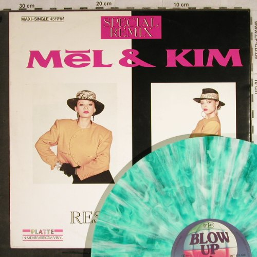 Mel & Kim: Respectable*3,sp.rmx,MultyGreenViny, Blow Up(INT 125.589), D, 1987 - 12inch - H8785 - 3,00 Euro