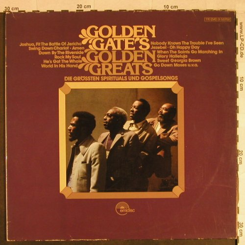 Golden Gate's (Quartet): Golden Greats, Foc, m-/vg+, Emidisc(176-EMD31557/55), D,  - 2LP - H890 - 6,00 Euro