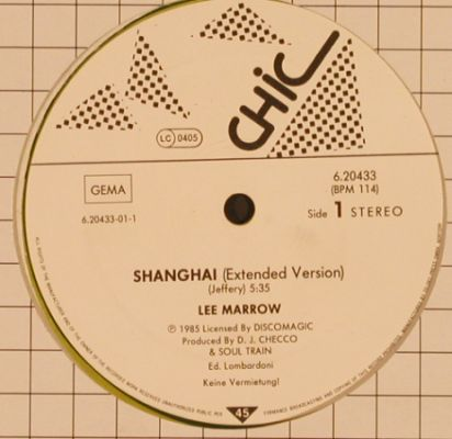 Marrow,Lee: Shanghai*2,short,wxt., green Vinyl, Chic(6.20433), D, 1987 - 12inch - H9906 - 3,00 Euro
