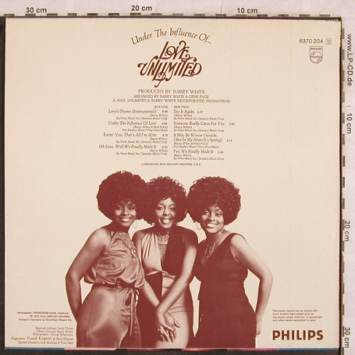 Love Unlimited: Under The Influence Of, m-/vg+, Philips(6370 204), NL, 1973 - LP - X138 - 7,50 Euro