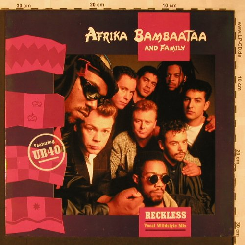 Afrika Bambaata & Family: Reckless(Vocal Wildstyle Mix)f.UB40, EMI(20 2380 6), NL, 1988 - 12inch - X2084 - 4,00 Euro