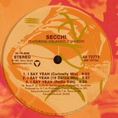 Secchi: I Say Year *5 FLC, Epic(49 73773), US,  - 12inch - X2164 - 3,00 Euro