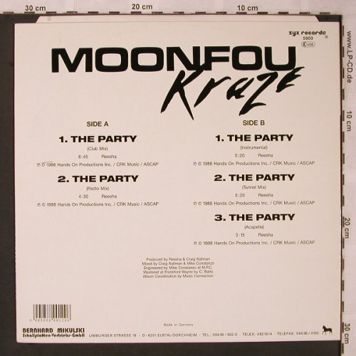 Kraze (Moonfou): The Party *5, ZYX(ZYX 5903), D, 1988 - 12inch - X2239 - 3,00 Euro