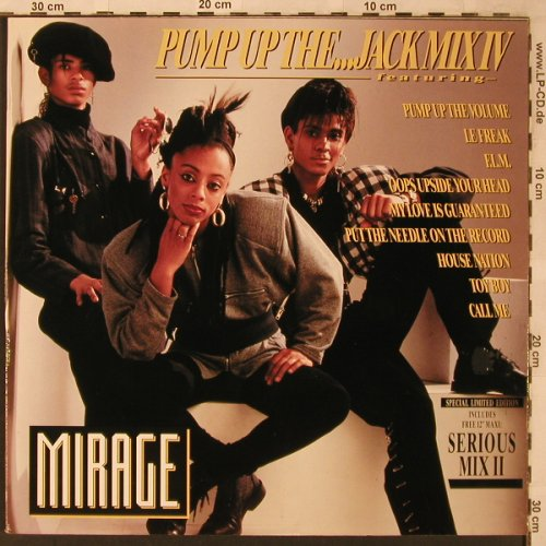 "Mirage: Pump Up The...Jack Mix IV+1, BCM(B.C.24-2057-40), D,Bonus12"",  - 12""*2 - X2250 - 7,50 Euro"