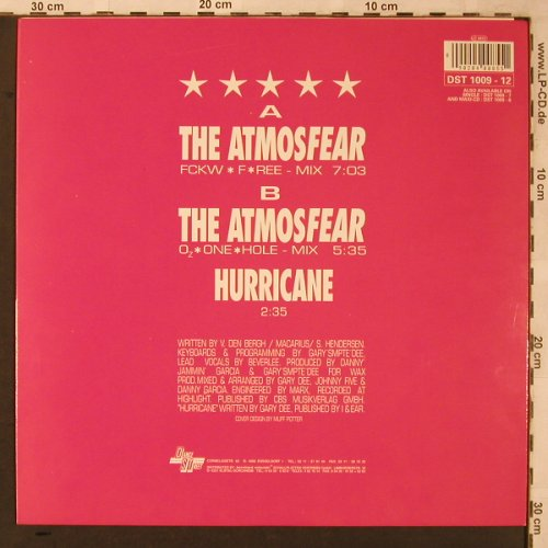 Cozmozone  introd.Beverlee: The Atmosfear*2 / Hurricane, Dance Street(DST 1009-12), ,  - 12inch - X2255 - 4,00 Euro