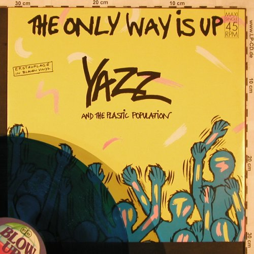 Yazz & Plastic Population: The Only Way Is Up+1,ClearBlueVinyl, Blow Up(INT 125.744), D, 1988 - 12inch - X2286 - 4,00 Euro