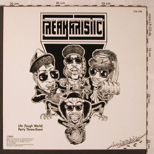 Freakaristic: Life(Tough World-Rough Times)+1, Injection(234.789), NL, 1987 - 12inch - X2625 - 4,00 Euro